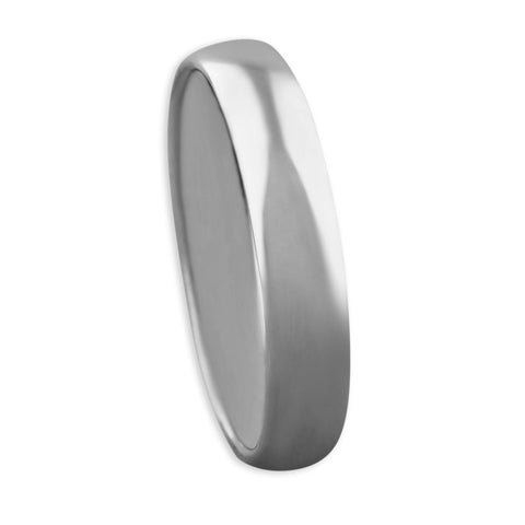 Sterling Silver Band Wedding Ring 4mm