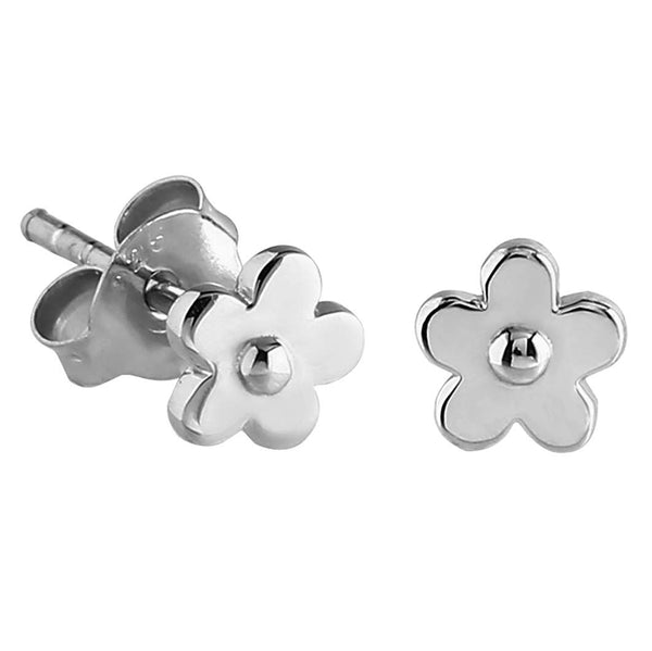 Sterling Silver XS Tiny Flower Stud Earrings