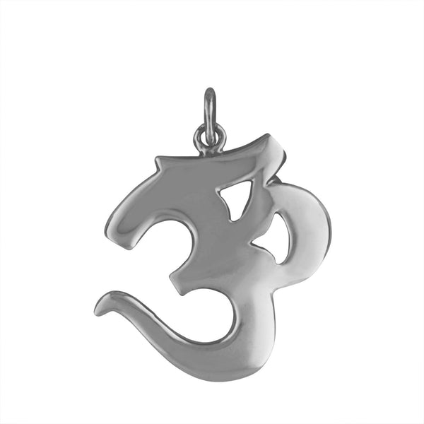 Sterling Silver Large Ohm Pendant