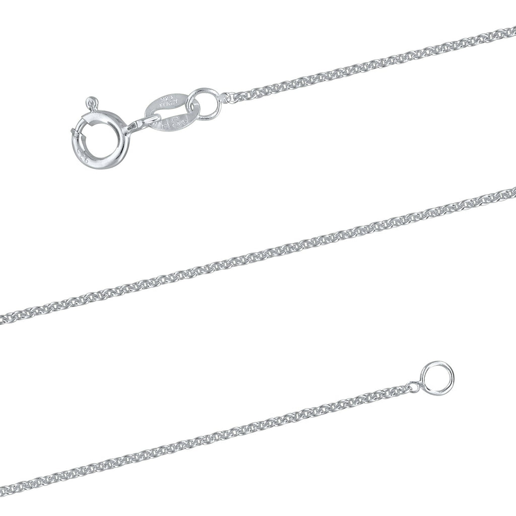 Sterling Silver 1.3mm Cable Chain Necklace Solid Italian Nickel-Free, 15 Inch