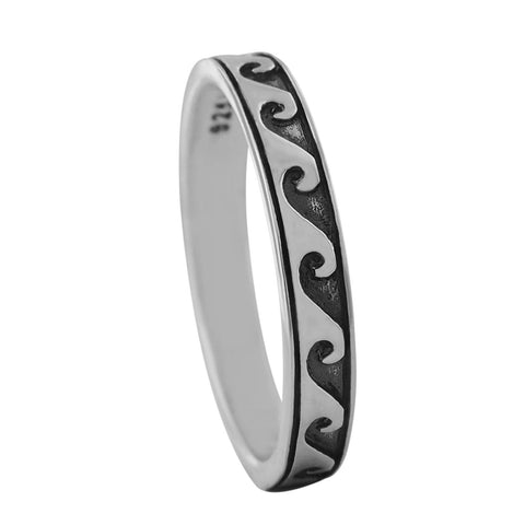 Sterling Silver Skinny Wave Ring