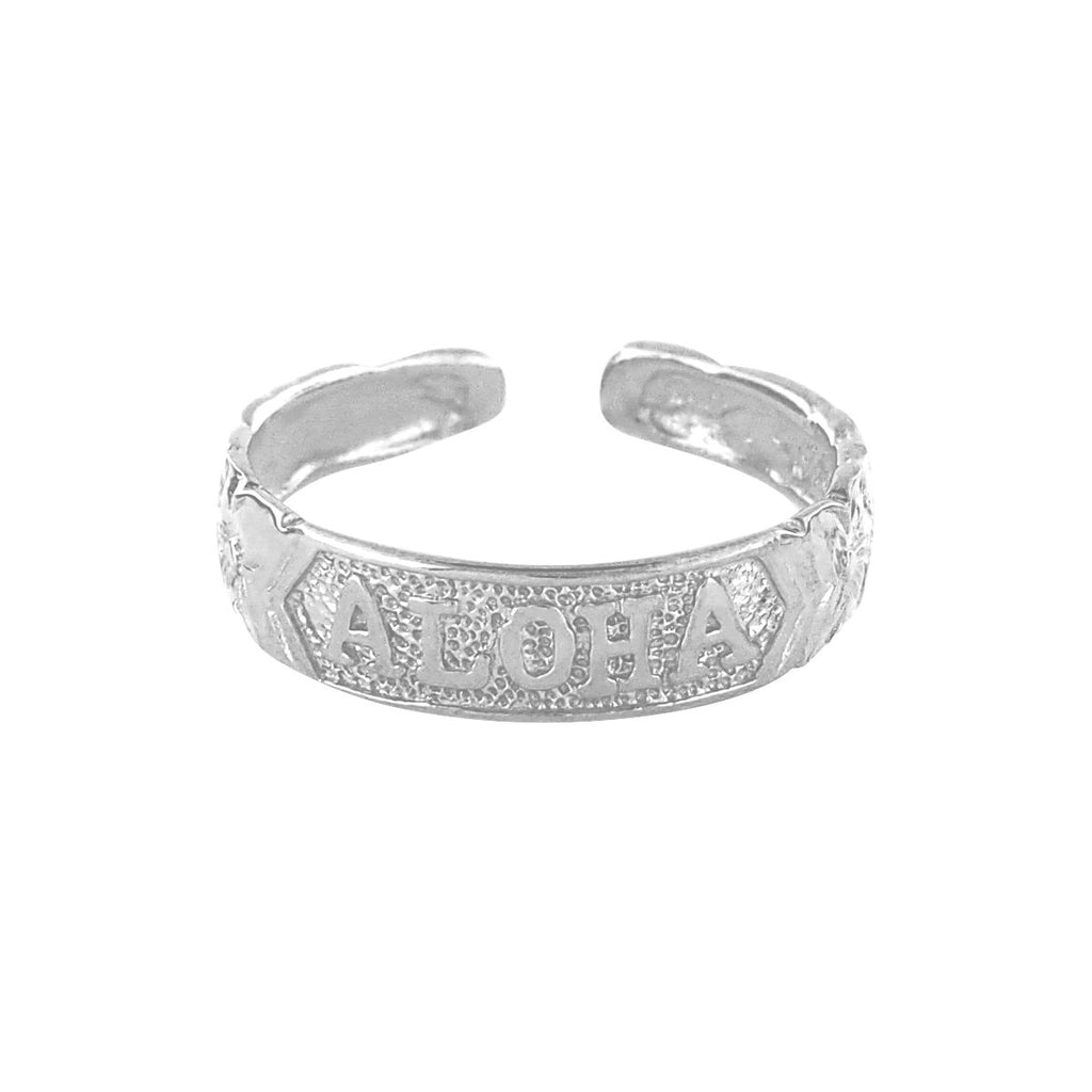 Sterling Silver Toe Ring Aloha