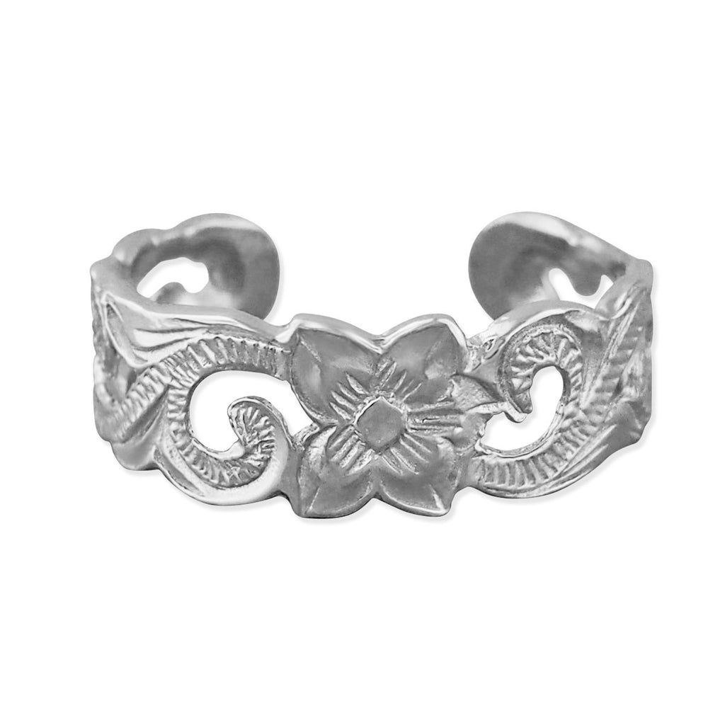 Sterling Silver Scroll Filigree Toe Ring