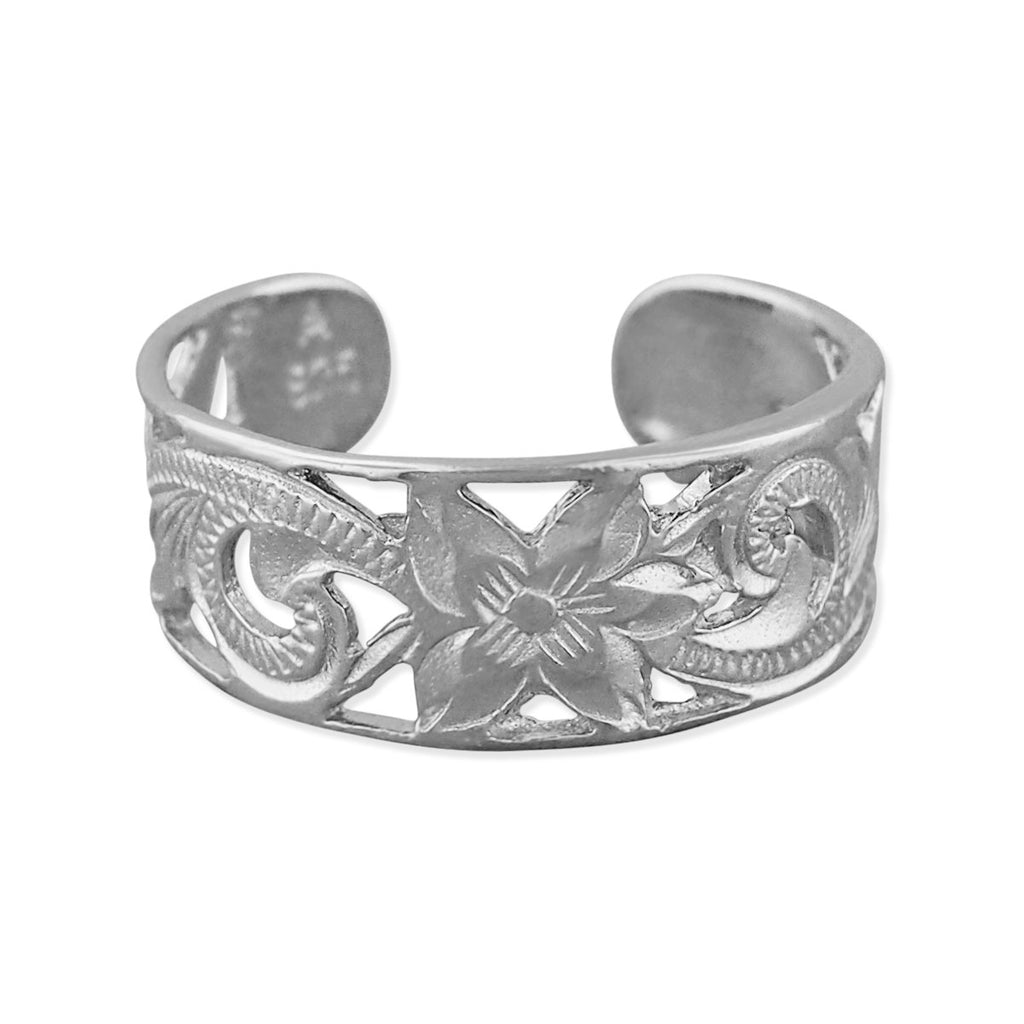 Sterling Silver 6mm Filigree Band Toe Ring