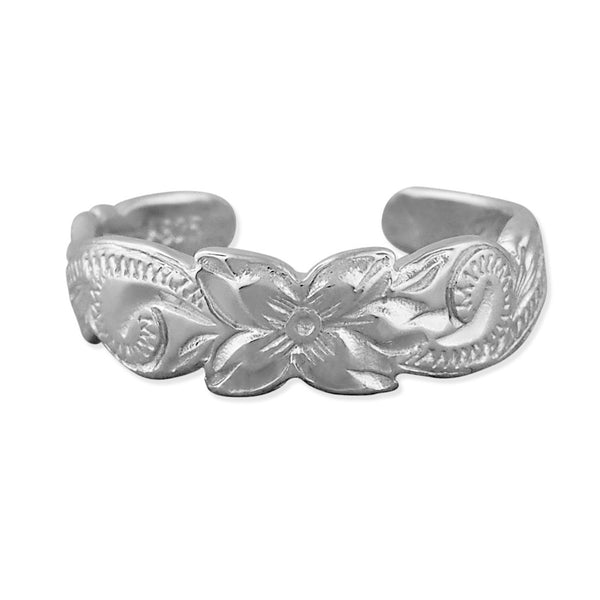 Sterling Silver Hawaiian Band Toe Ring