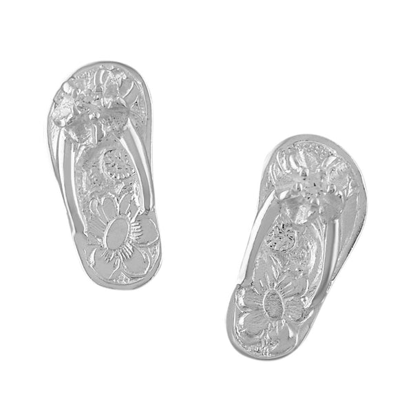 Sterling Silver Slipper Flip Flop Stud Earrings
