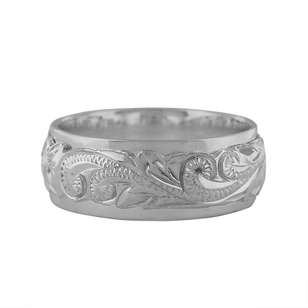 Sterling Silver Raised Hawaiian Band Ring