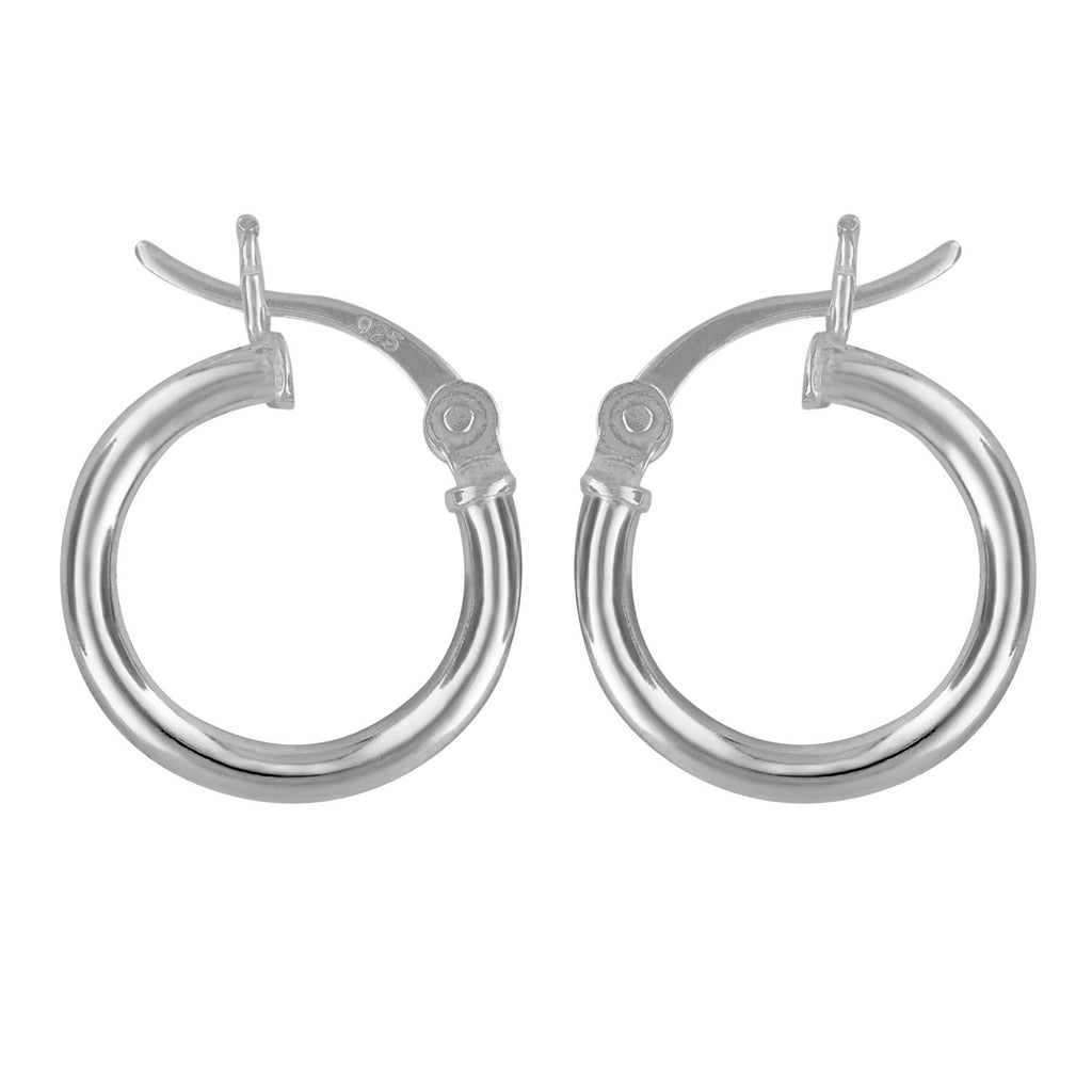 Sterling Silver Hoop Earrings 2mm x 14mm