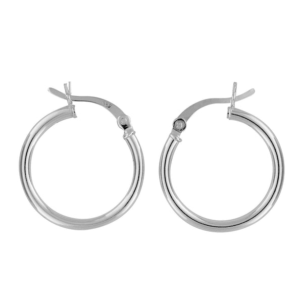 Sterling Silver Hoop Earrings 2mm x 20mm