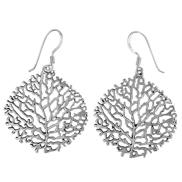 Sterling Silver Ocean Reef Dangle Earrings