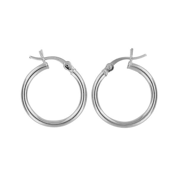 Sterling Silver Hoop Earrings 2mm x 18mm