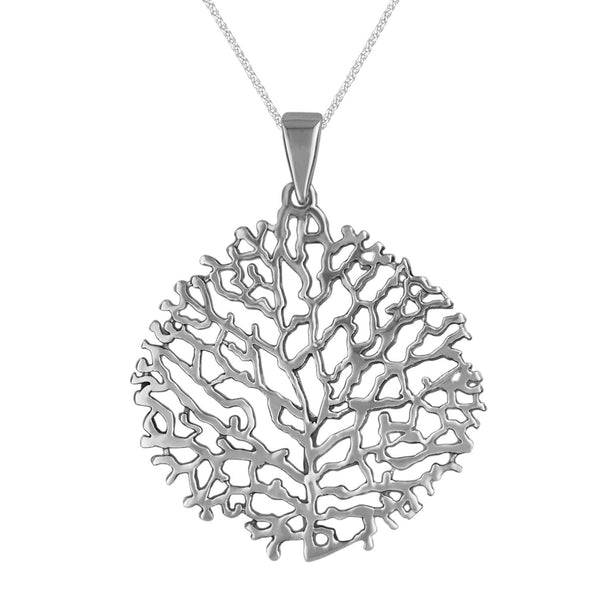 Sterling Silver Ocean Reef Pendant Necklace, 18