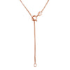 14kt Rose Gold Plated Sterling Silver 1mm Box Chain Necklace Italian Nickel-Free, 16-20 Inch