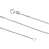 Sterling Silver 1.5mm Box Chain Necklace Solid Italian Nickel-Free, 16-30 Inch