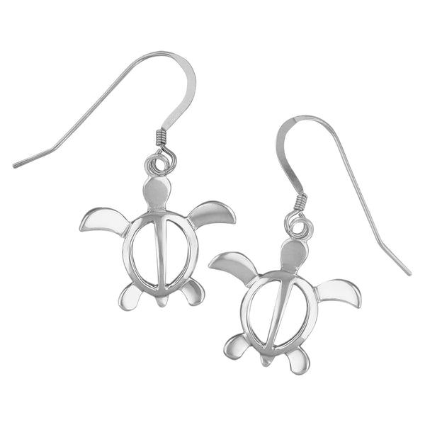 Sterling Silver Turtle Dangle Earrings
