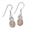 Sterling Silver Pineapple Dangle Earrings