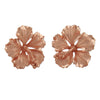 Sterling Silver 5/8 Inch Hibiscus Stud Earrings