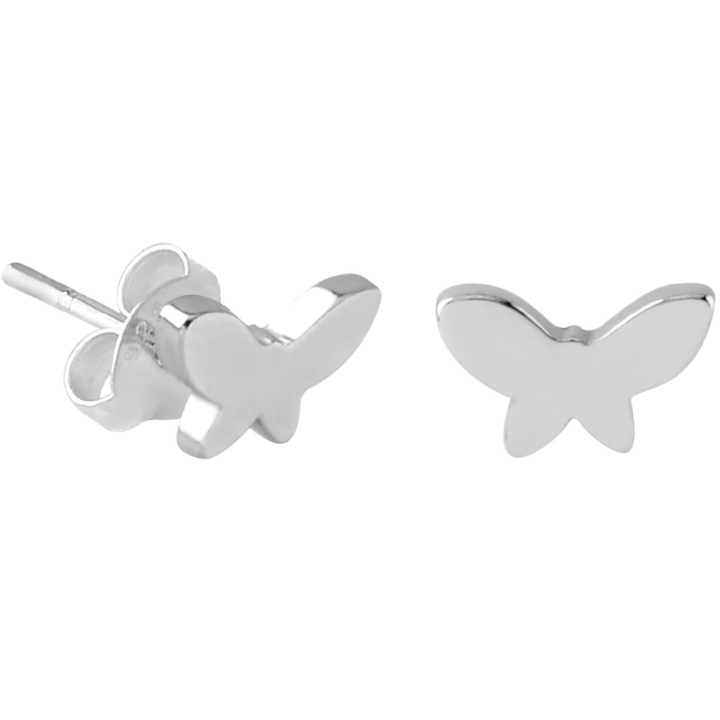Sterling Silver XS Tiny Butterfly Stud Earrings