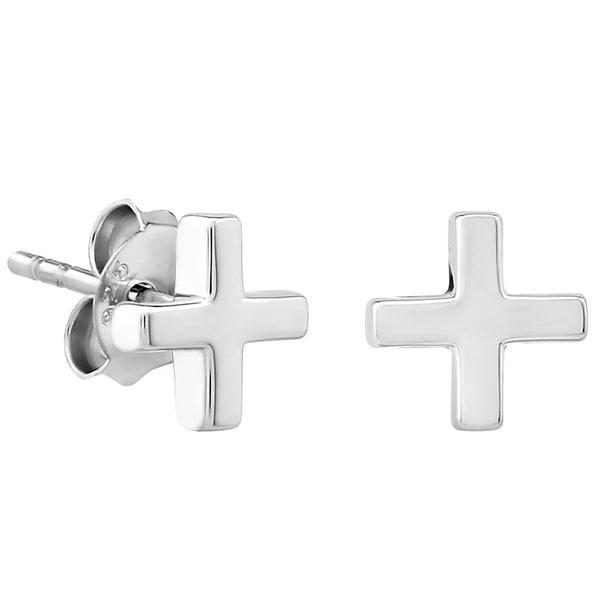 Sterling Silver XS Tiny Plus Stud Earrings
