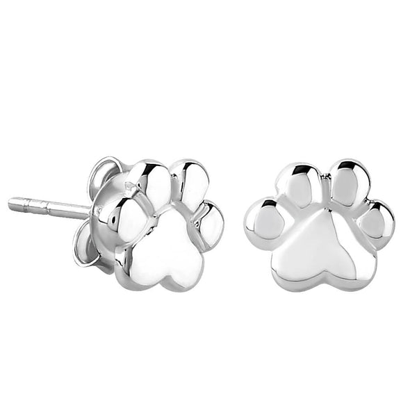 Sterling Silver XS Tiny Paw Stud Earrings