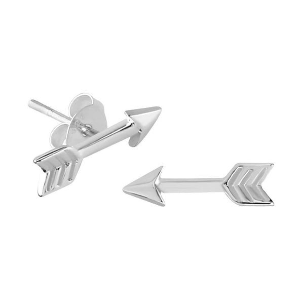 Sterling Silver XS Tiny Arrow Stud Earrings