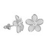 Sterling Silver 11mm Plumeria Stud Earrings