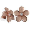 Sterling Silver 15mm Plumeria Stud Earrings