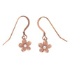 Sterling Silver 9mm Plumeria Hook Earrings
