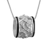 Sterling Silver Plumeria Bead Barrel Pendant Necklace, 16+2