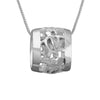Sterling Silver Turtle Bead Barrel Pendant Necklace, 16+2