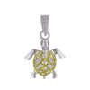 Sterling Silver XS Sea Turtle Charm Pendant