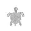 Sterling Silver Sea Turtle Small Moving Pendant