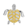Sterling Silver Moving Sea Turtle Pendant