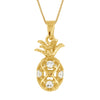 Sterling Silver Small Pineapple Pendant Necklace, 16+2