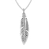Sterling Silver Small Feather Pendant Necklace, 18
