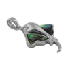 Sterling Silver Abalone Shell Stingray Pendant