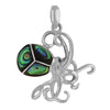 Sterling Silver Abalone Shell Octopus Pendant