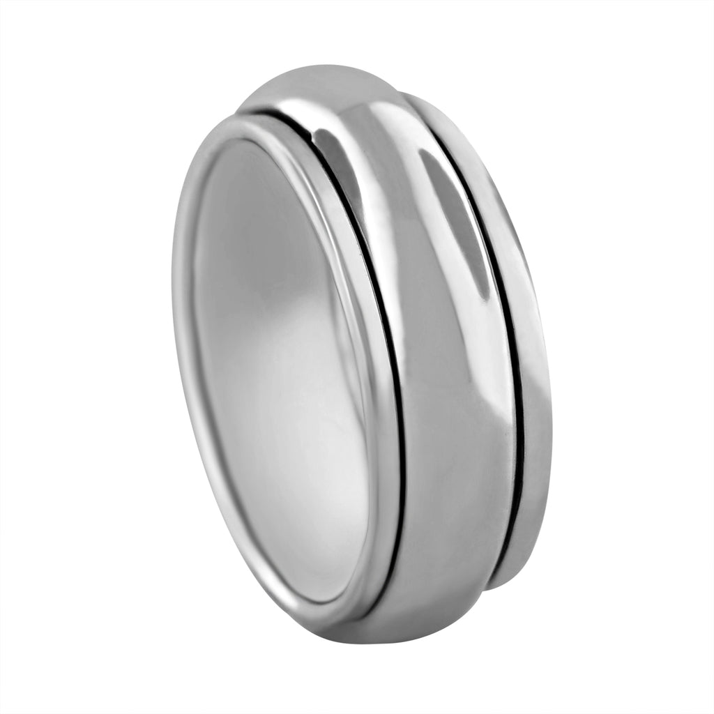 Sterling Silver Plain Band Spinner Ring
