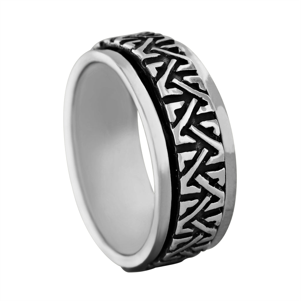 Sterling Silver Celtic Knots Spinner Ring
