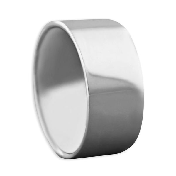 Sterling Silver Flat Band Ring 10mm