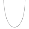 Sterling Silver 2.2mm Diamond-Cut Rope Chain Necklace Solid Italian Nickel-Free, 16-30 Inch