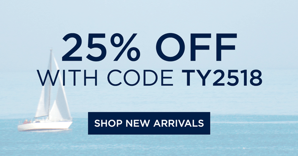 THANK YOU FOR PARTICIPATING. 25% OFF WITH CODE TY2518