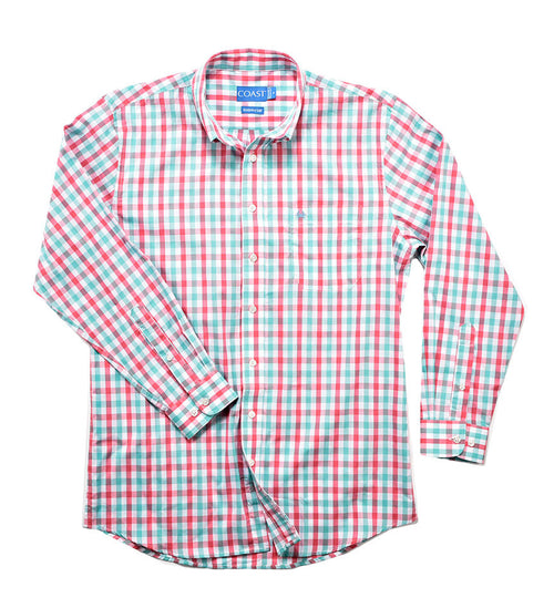 Button Down Shirt - Coral Sea