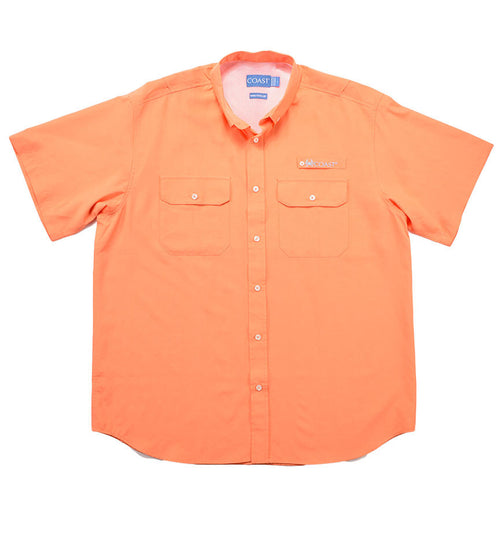 Marina Short Sleeve Fishing Shirt - Salmon Run