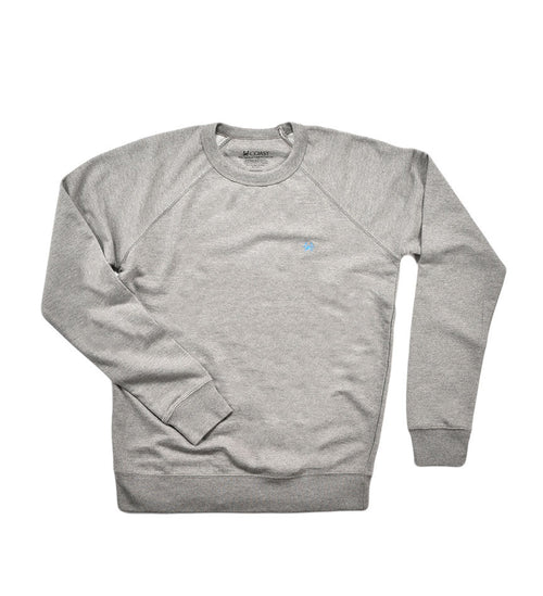 French Terry Crew Neck - Graphite Heather