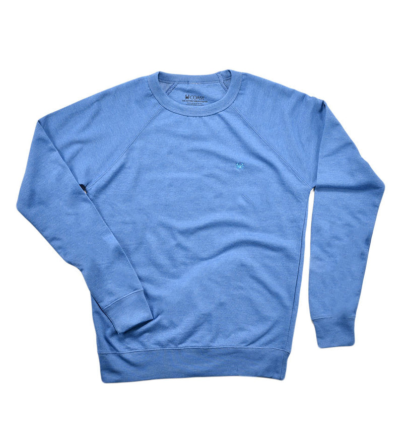French Terry Crew Neck - Royal Blue