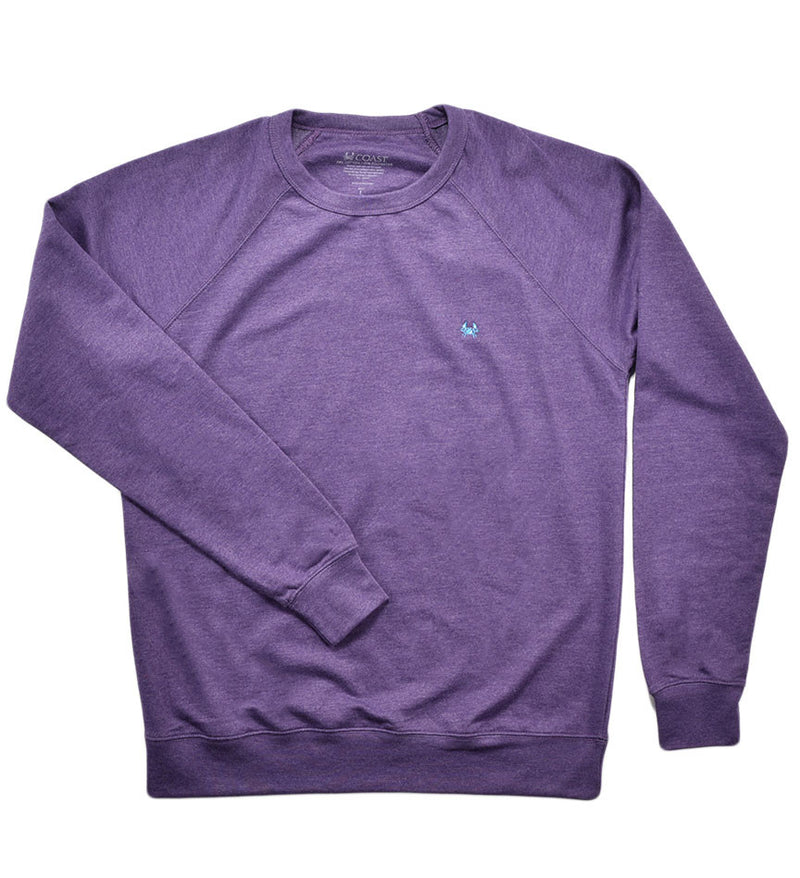 fleece sweater, crew neck sweater