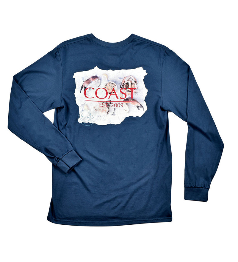Eat Crab - Navy Long Sleeve