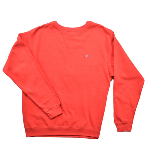 Heavy Fleece Crew Neck - Red