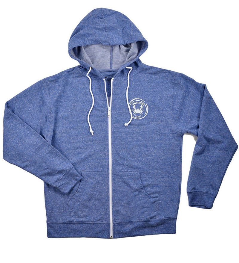 Fleece Zip Hoodie - Royal Heather